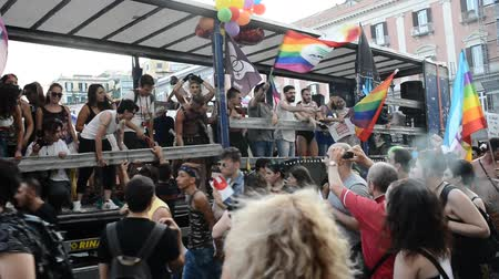 sexualita : NAPLES, ITALY- JULY 11:Some participants in the Gay Pride every year brings together thousands of gay people and not to claim the rights to sexual freedom and against homophobia on  july 11, 2015 in Naples