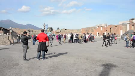 igor : POMPEII, ITAL- NOVEMBER 13: Pompeii ruins was declared in 1997 by UNESCO World Heritage Site with about 3 million visitors last year on november 13, 2016 Pompeii - Italy