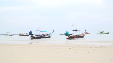 prezentaci : Many different longtail boats in the Bang Tao Bay, Phuket, Thailand Dostupné videozáznamy