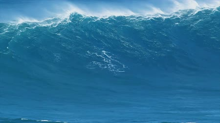 атлетика : Giant Blue Ocean Wave Стоковые видеозаписи