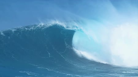 Giant Blue Ocean Wave Archivo de Video
