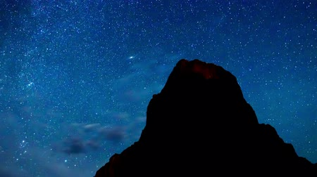 planeta : Time Lapse of Night Sky and Milky Way Galaxy