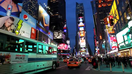 New York City, Times Square Time Lapse Wideo