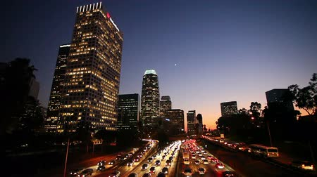 řídit : Los Angeles Downtown Traffic at Sunset