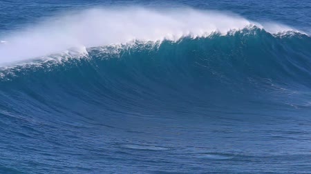 surf : Giant Blue Ocean Wave Filmati Stock