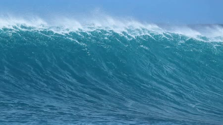 szörfös : Giant Blue Ocean Wave Stock mozgókép