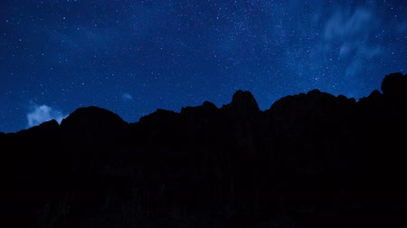 planeta : Time Lapse of Stars Moving Across the Night Sky, View from the Grand Canyon
