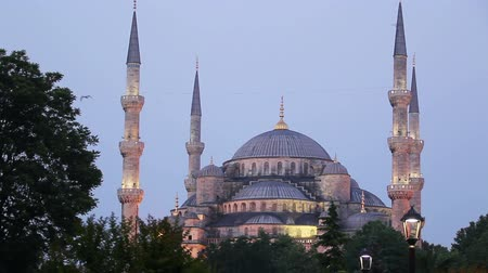 isztambul : Sunset over The Blue Mosque