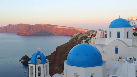 aegean sea : santorini island, greece Stock Footage