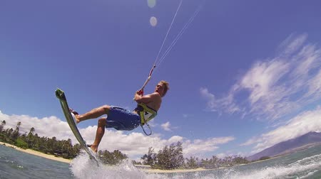 vítr : Kite Boarding, Fun in the ocean, Extreme Sport