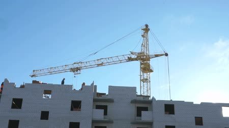 townsman : Construction crane, workers work in construction