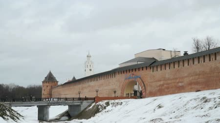 оборонительный : Old towers of Novgorod Kremlin, V.Novgorod, Russia