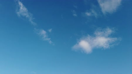 time laps : Time lapse of a beautiful relaxing blue sky Stock Footage