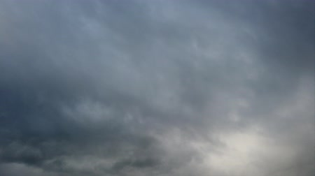 time laps : Time lapse of a overcast cloudy gray sky