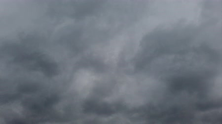 altocumulus : Time lapse of overcast stormy sky with clouds blown by the wind