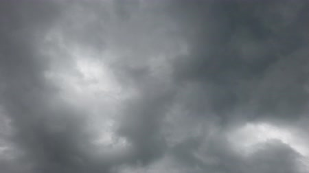 altocumulus : A slow look at the sky covered with menacing clouds of rain Stock Footage