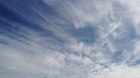 pelyhes : Awesome time lapse of afternoon dark blue sky and cirrocumulus clouds carried by the wind and scenic movement