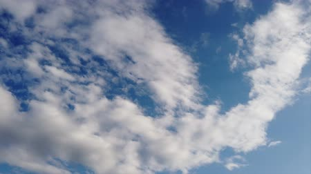altocumulus : Beautiful sky in time lapse with scenic clouds in the air
