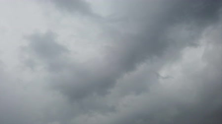 time laps : Overcast sky in time lapse of heavy gray nimbostratus cloud carried by the wind