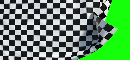 genişlik : Waving checker finish flag (green alpha, slow motion)