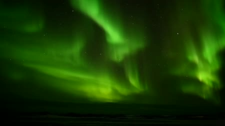 světlo : Strong green Northern Lights - Spitsbergen, Svalbard