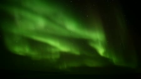 noordpool : Northern Lights op de Arctische lucht