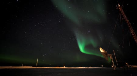 antártica : Northern lights in the Arctic Stock Footage