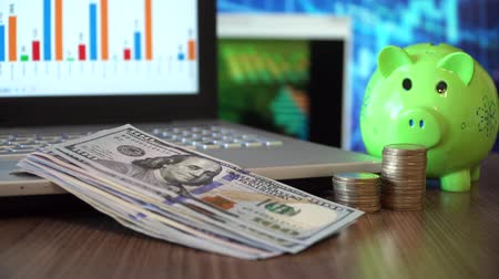 piggy bank : Financial Security of a Retirement Stock Footage