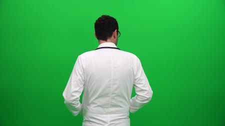 Doctor From Behind On Green Screen Vídeos