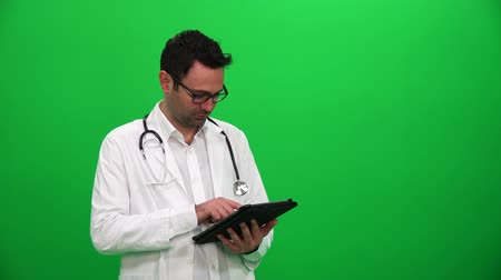 invisible : Doctor Presenting With Digital Screen. Left Side.