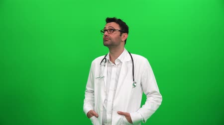 Doctor Looking and Searching on Digital Background Vídeos