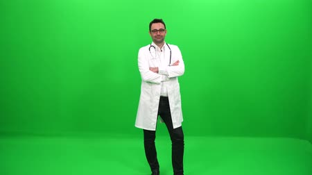 fulllength : Doctor on Green Screen