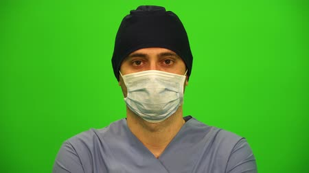 Close up Portrait of a Surgeon or Doctor with Mask Vídeos