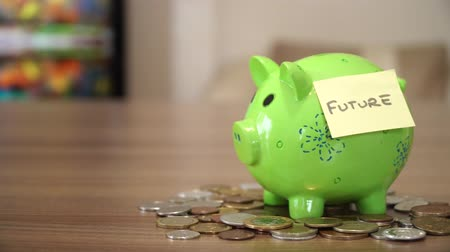привлекать : Saving Money for Future in Money Box