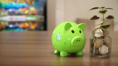 привлекать : Piggy Bank and Planting Coin Tree
