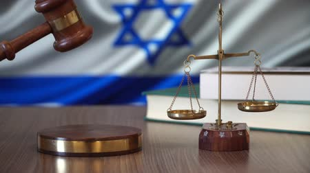 israelite : Justice for Israel Laws in Israeli Court Stock Footage