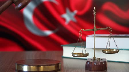 judiciary : Justice for Turkey Laws in Turkish Court Stock Footage