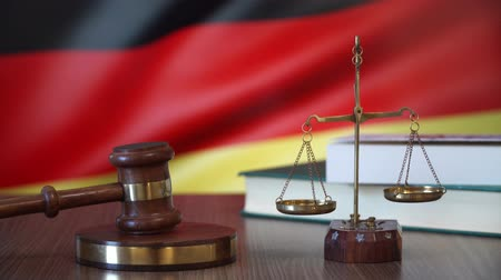 judiciary : Justice for Germany Laws in German Court Stock Footage