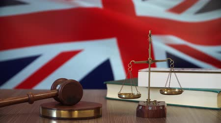 supreme : Justice for Britain Laws in British Court Stock Footage