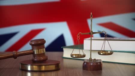 judiciary : Justice for Britain Laws in British Court Stock Footage