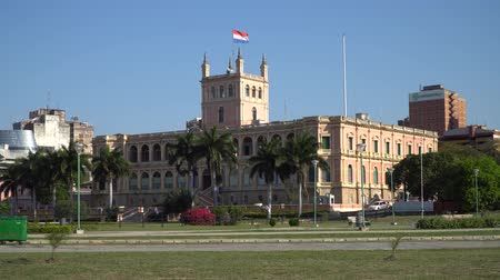 colonial : Presidential Palace in Asuncion, Paraguay Stock Footage