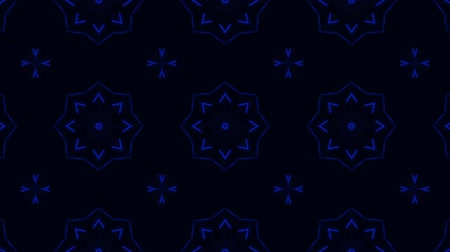 contornos : poly art kaleidoscope Fractal blue black love animation footage