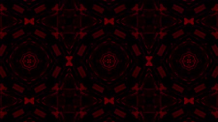 contorno : poly art kaleidoscope Fractal red  love animation footage Stock Footage