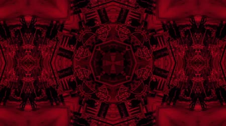 vetor : poly art kaleidoscope Fractal red  love animation footage Stock Footage
