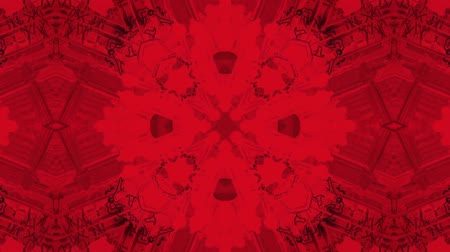 contornos : poly art kaleidoscope Fractal red  love animation footage Vídeos