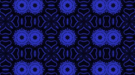 contorno : poly art kaleidoscope Fractal footage Stock Footage