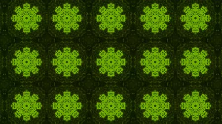 vector : poly art kaleidoscope green black flower for VJ Fractal Background