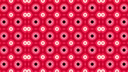 vetor : poly art kaleidoscope pink red  black for VJ Fractal Background Stock Footage