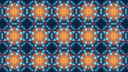 kaleidoskop : Poly Art Kaleidoskop gelb blau schwarz für VJ Fractal Background