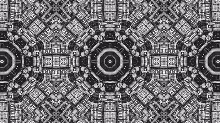 vetor : Poly Art Kaleidoscope circle rotation abstract blck and white kaleidoscope 4k Stock Footage